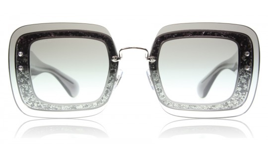 Miu Miu 01RS 01R Transparent Grey Glitter UES0A7