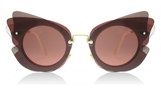 Miu Miu 02SS Dark Brown / Pink VA50A0 63mm--Lux Store-us