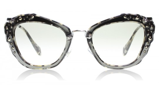 Miu Miu 04Qs Marble White / Black DHE3H2 55mm