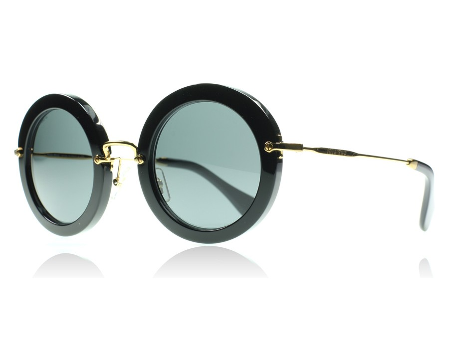 2080d5b7ade Miu Miu 13NS Noir Black 1AB1A1 49mm at lux-store.com US - Free ...