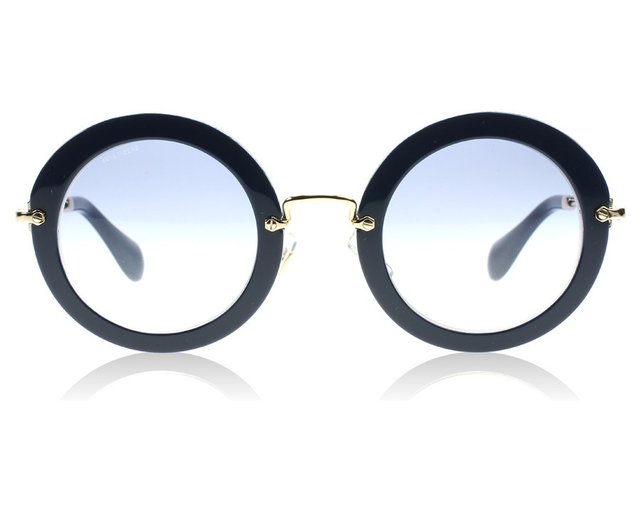 2839c9a0c61 Miu Miu 13NS Noir Blue DHI8V1 at lux-store.com US - Free Shipping   Returns  on Sunglasses.