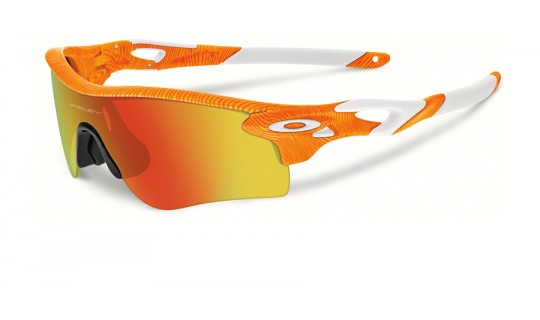 Oakley Radarlock Fingerprint Atomic Orange Orange OO9181-45