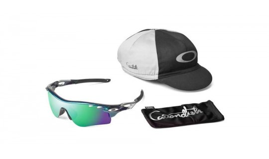 Oakley Radarlock Mark Cavendish Signature Series Metallic Green OO9181-15