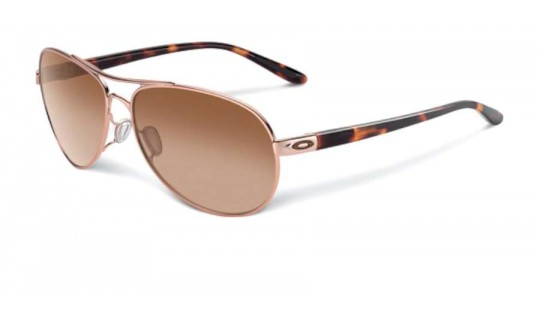 Oakley Women Feedback Rose Gold and Tortoise OO4079-01--Lux Store-us