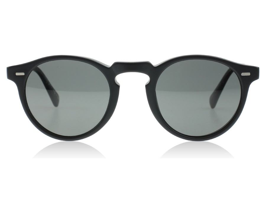 1145012d01a Oliver Peoples Gregory Peck Sun Matte Black 1031P2 Polarised at  lux-store.com US - Free Shipping   Returns on Sunglasses.
