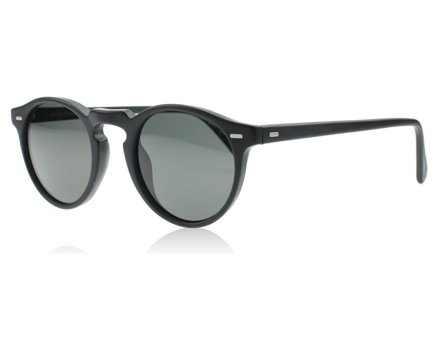 3a07295d83 Oliver Peoples Gregory Peck Sun Matte Black 1031P2 Polarised at lux ...