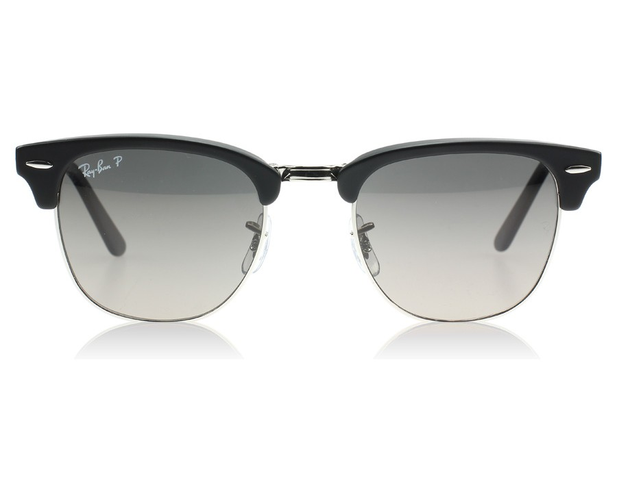 6c61c3f13a Ray-Ban 2176 Clubmaster Folding 2176 Black and Silver 901SM8 Polarised at  lux-store.com US - Free Shipping   Returns on Sunglasses.