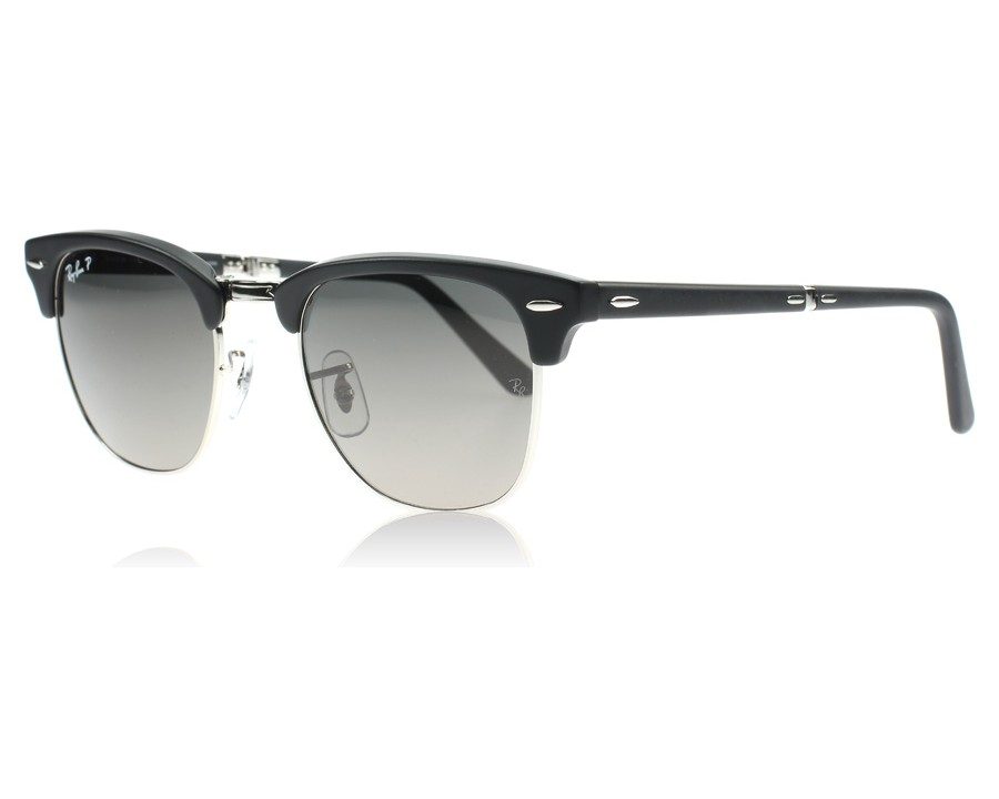 Ray Ban 2176 Clubmaster Folding 2176 Black And Silver