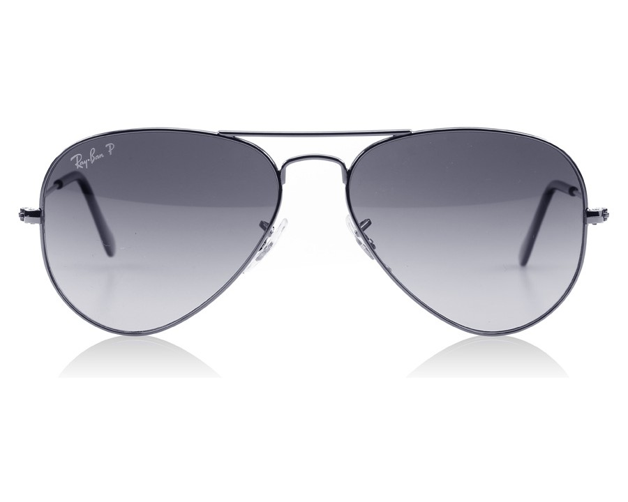 ac2e16d42a Ray-Ban 3025 Aviator Gunmetal 004 78 55mm Polarised at lux-store.com US - Free  Shipping   Returns on Sunglasses.