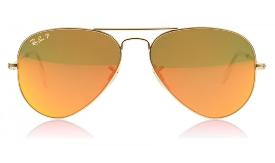 Ray-Ban 3025 Aviator Matte Gold 112/4D 55mm Polarised-805367225608-Lux Store-us