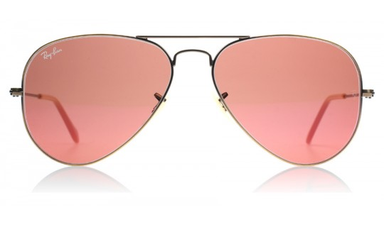 Ray-Ban 3025 Aviator Rb 3025 - Brown Demiglos Brushed Bronze 167/2K-805367234045-Lux Store-us