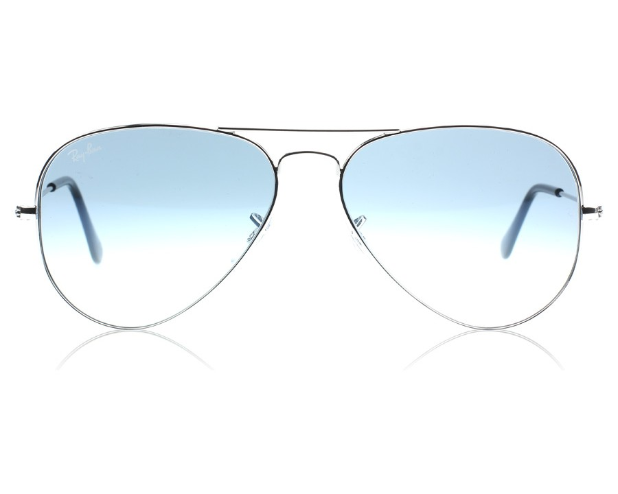 9aa92591ef Ray-Ban 3025 Aviator Silver 003 3F Medium 58mm at lux-store.com US - Free  Shipping   Returns on Sunglasses.