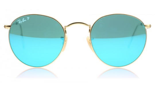 Ray-Ban 3447 Round Metal Matte Gold 112/4L Polarised