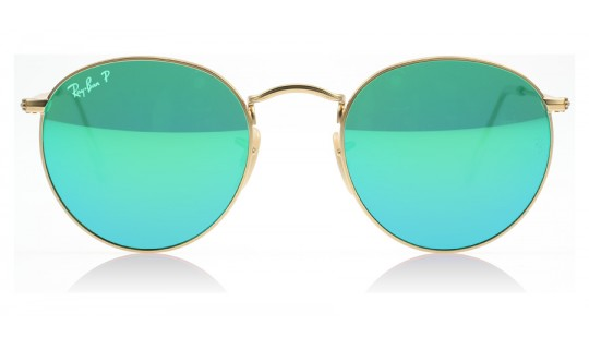 Ray-Ban 3447 Round Metal Matte Gold 112/P9 Polarised