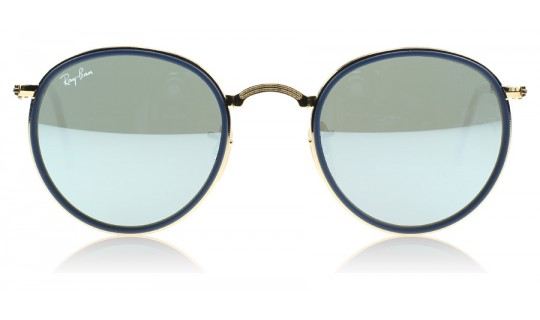 Ray-Ban 3517 Folding Round Gold 001/30-805367223370-Lux Store-us