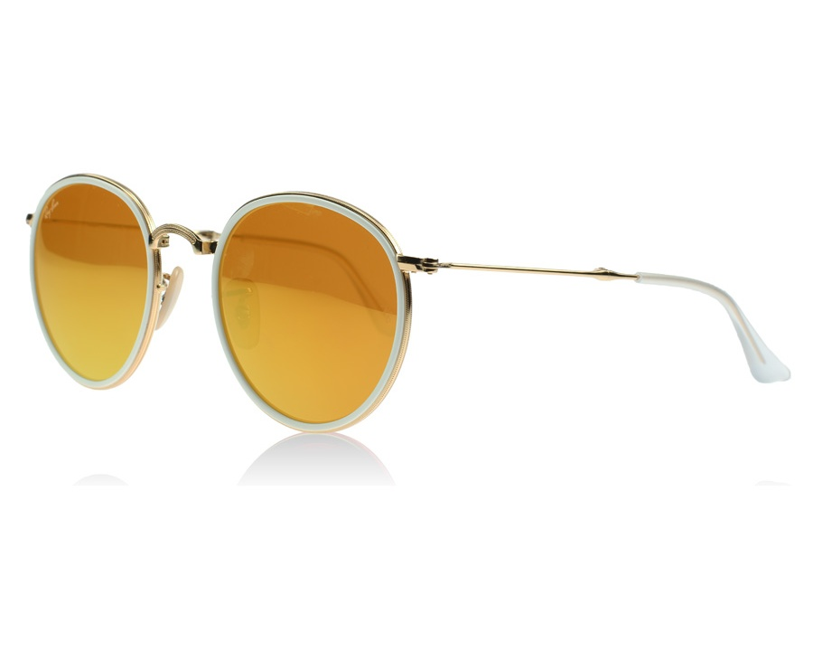 4dfa91725b7 Ray-Ban 3517 Folding Round Gold and White 001 93 at lux-store.com US ...