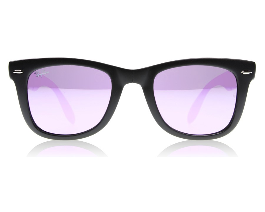 d9d0b58b4b99c Ray-Ban 4105 Folding Wayfarer Matte Black 601S4K at lux-store.com US ...