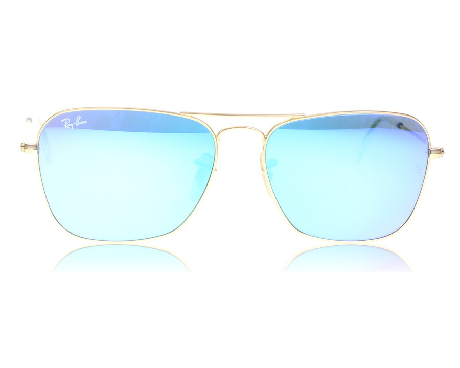 db74ad36f910d Ray-Ban Caravan 3136 Matte Gold 112 17 at lux-store.com US - Free Shipping    Returns on Sunglasses.
