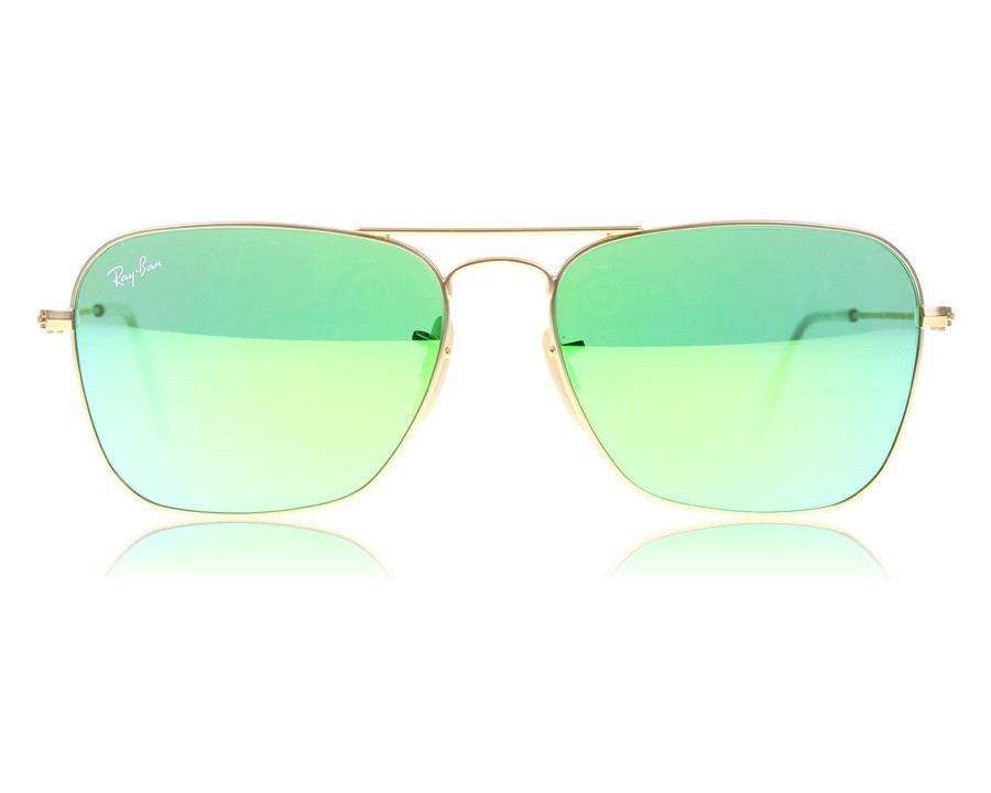57a5118e476f0 Ray-Ban Caravan 3136 Matte Gold 112 19 at lux-store.com US - Free Shipping    Returns on Sunglasses.