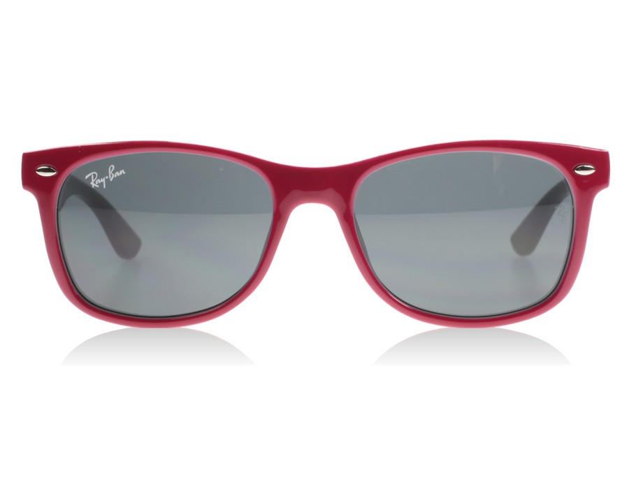 6c228eed1ea Ray-Ban Junior 9052s 9052 Top Red Fuxia on Grey 177 87 Youth at lux ...